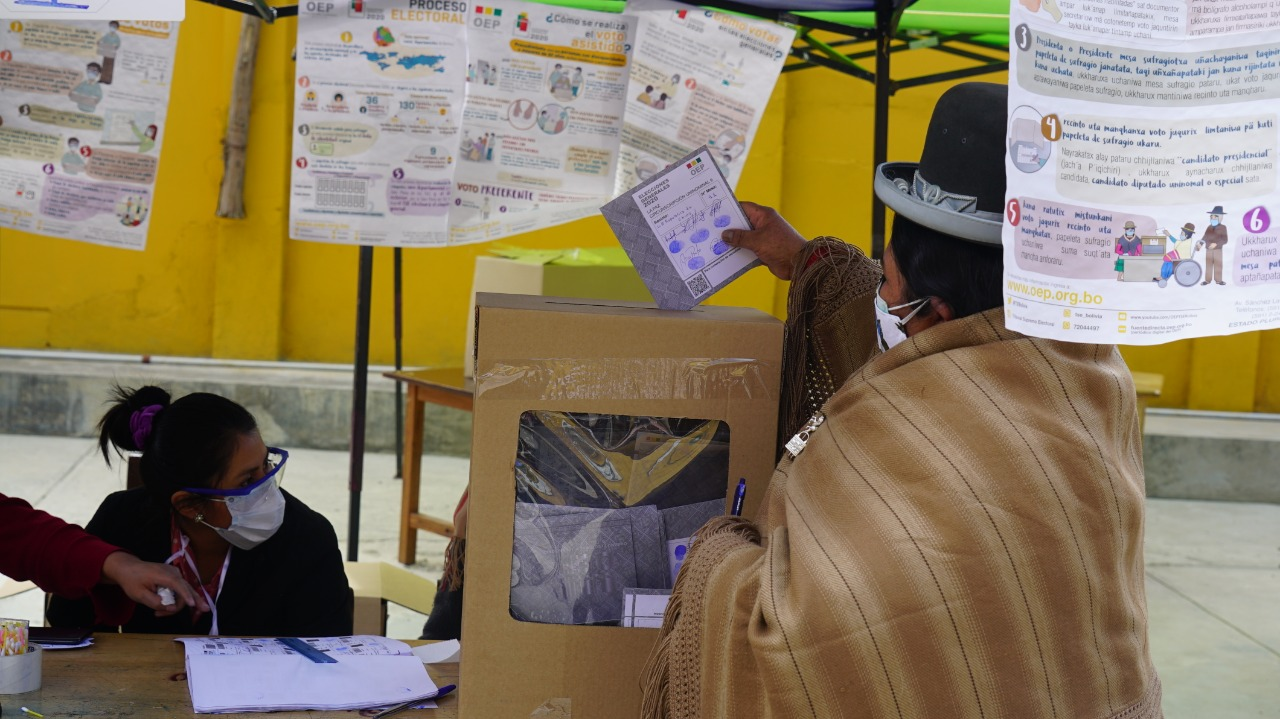 Voting in Bolivia October 2020 elections