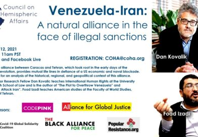 COHA Webinar | Venezuela-Iran: A natural alliance in the face of illegal sanctions