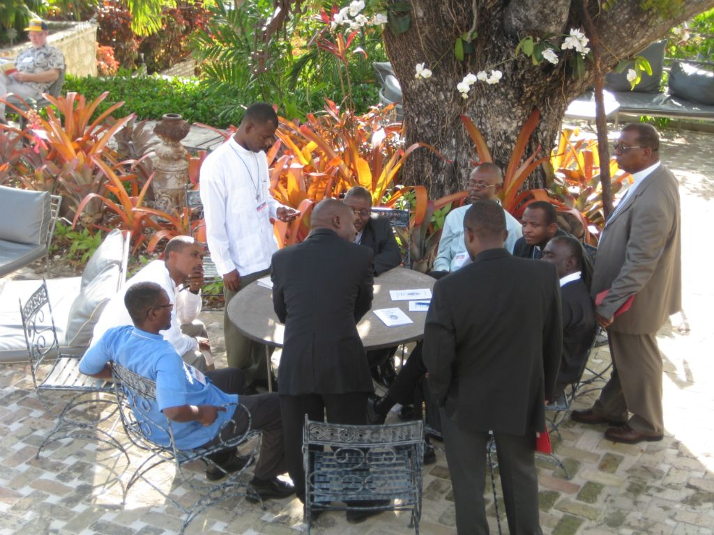 Haitian Clergy Impromptu Meeting