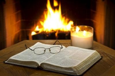 biblebyfireplace