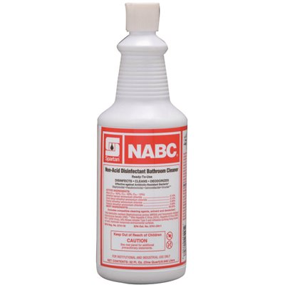 NABC 1 Quart Floral Scent Restroom Disinfectant (CASE OF 12)