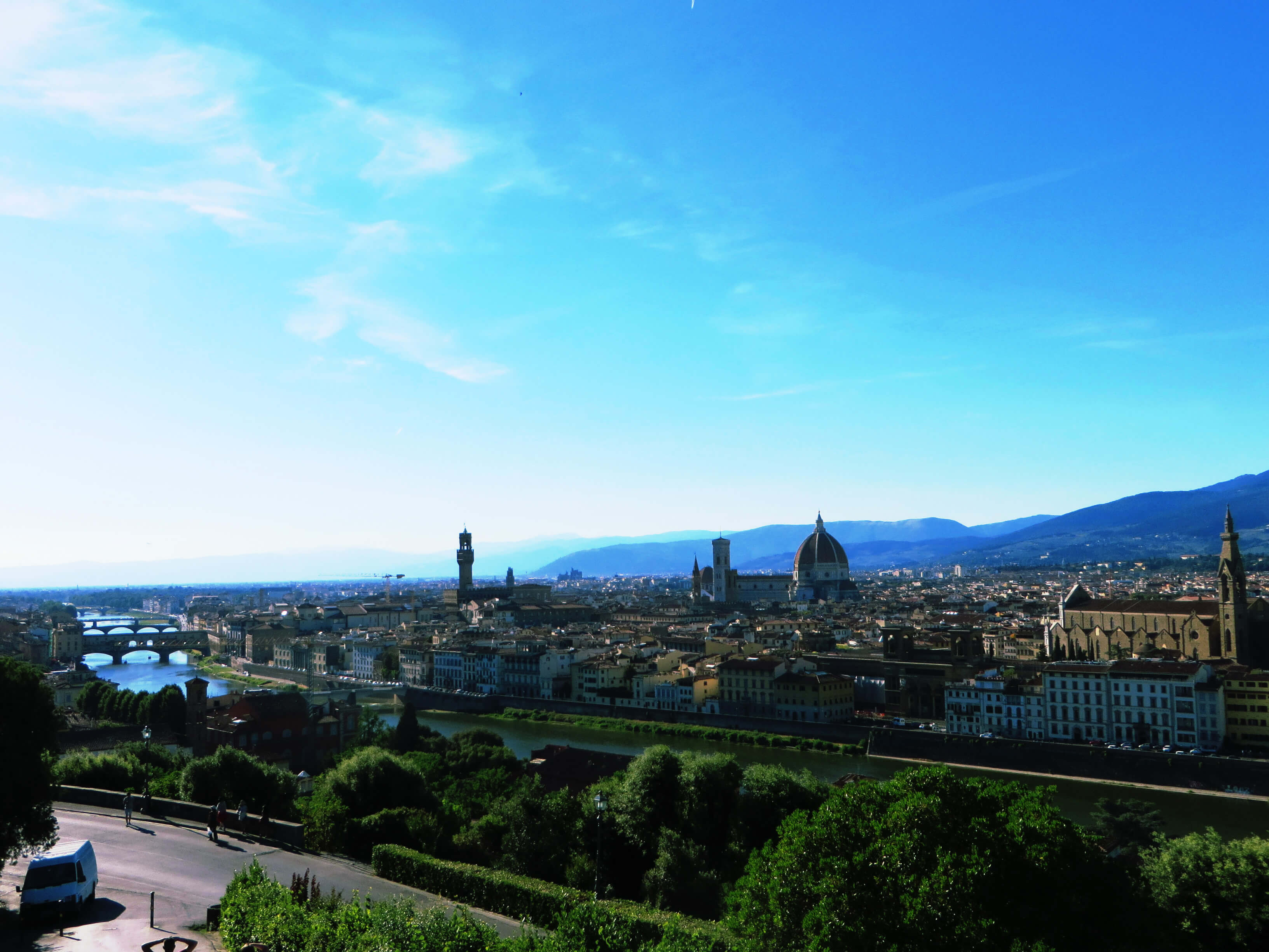 Panoramic views of Florence from Piazzale Michelangelo