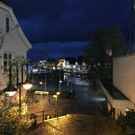 Stavanger, Norway at night
