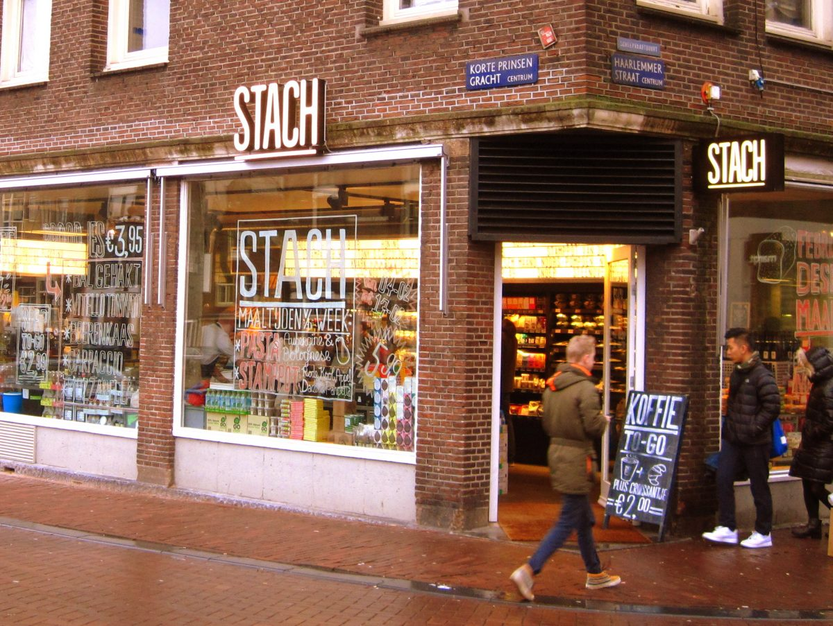 Stach Amsterdam is a terrific deli concept where you can get fresh tasty foods for take away or to eat at the few tables in the shops. They have more than 10 locations around the city.