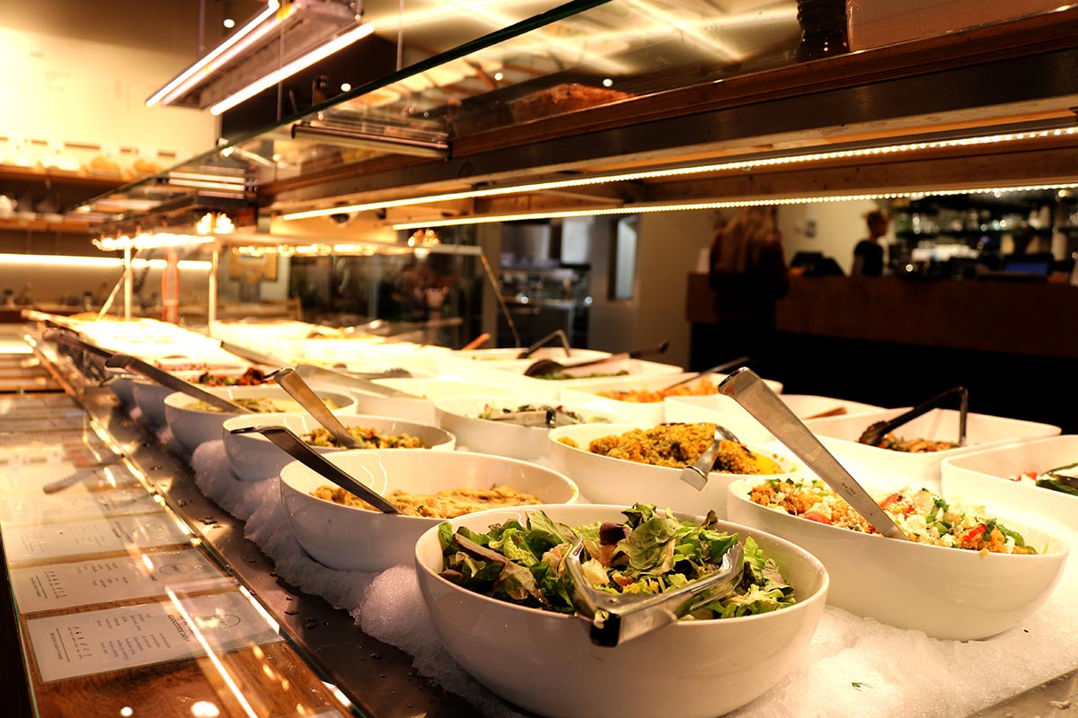 Spirit Amsterdam • Vegetarian Buffet - You'll find dishes like Indian dahl, bulghur with pumpkin, lasagna, split pea soup, vegan ravioli, mushroom tempura and spring rolls. Since it is a buffet you can mix flavors on your plate or go with a theme.