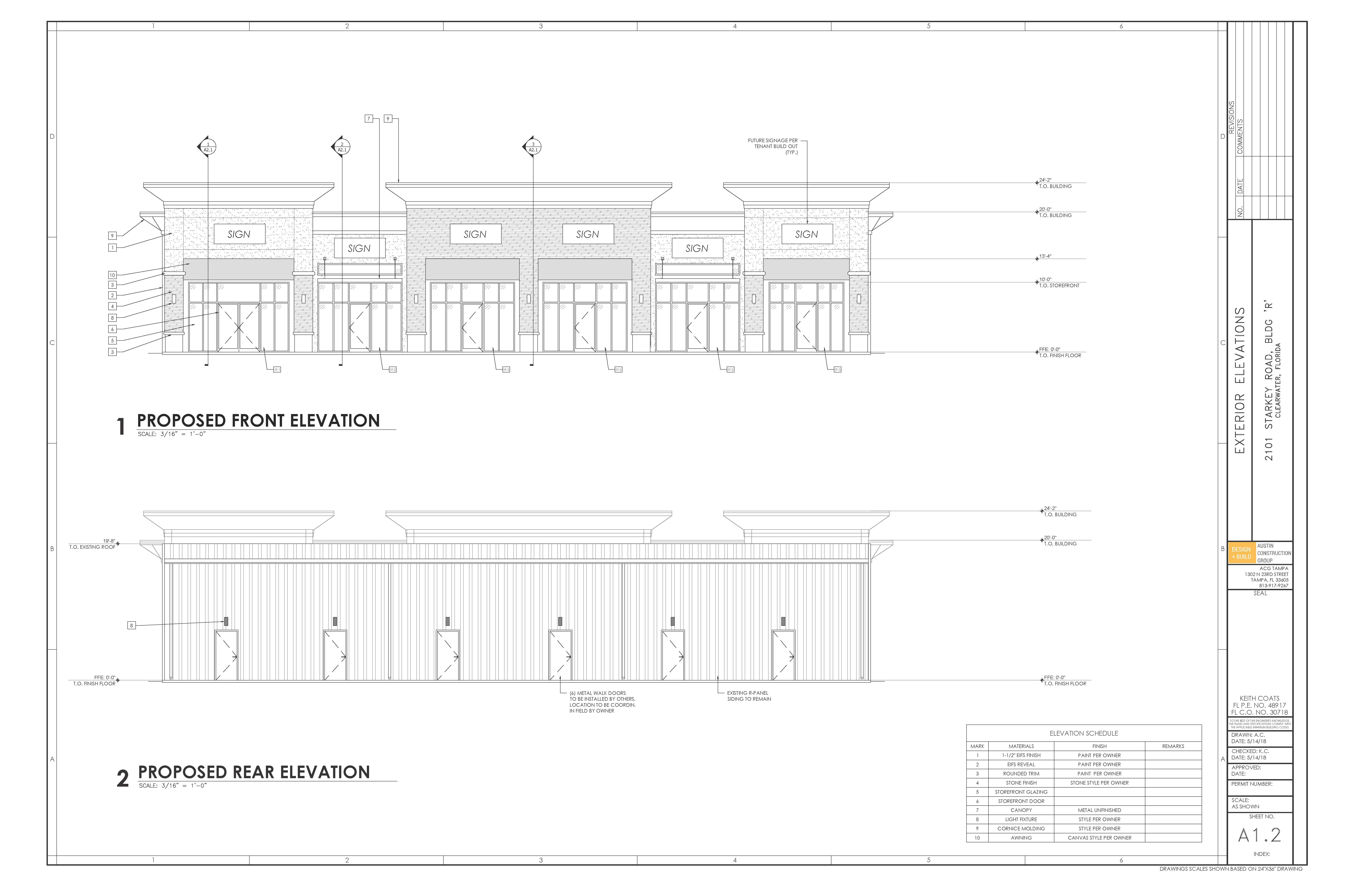 100' x 80' Building Drawings-A1.2