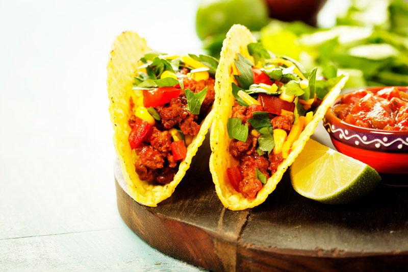 Two tacos illustrating how to sneak veggies into your diet