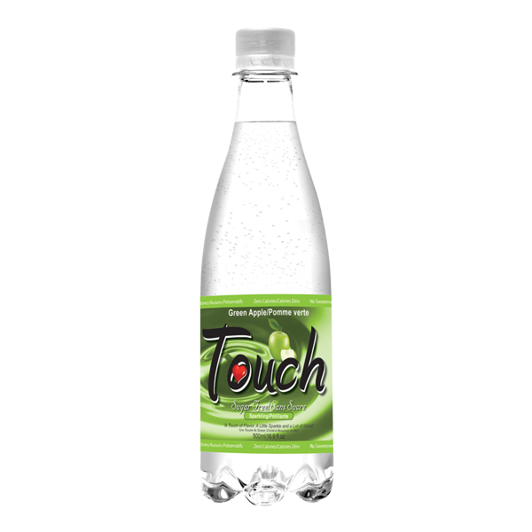 white and green bottle