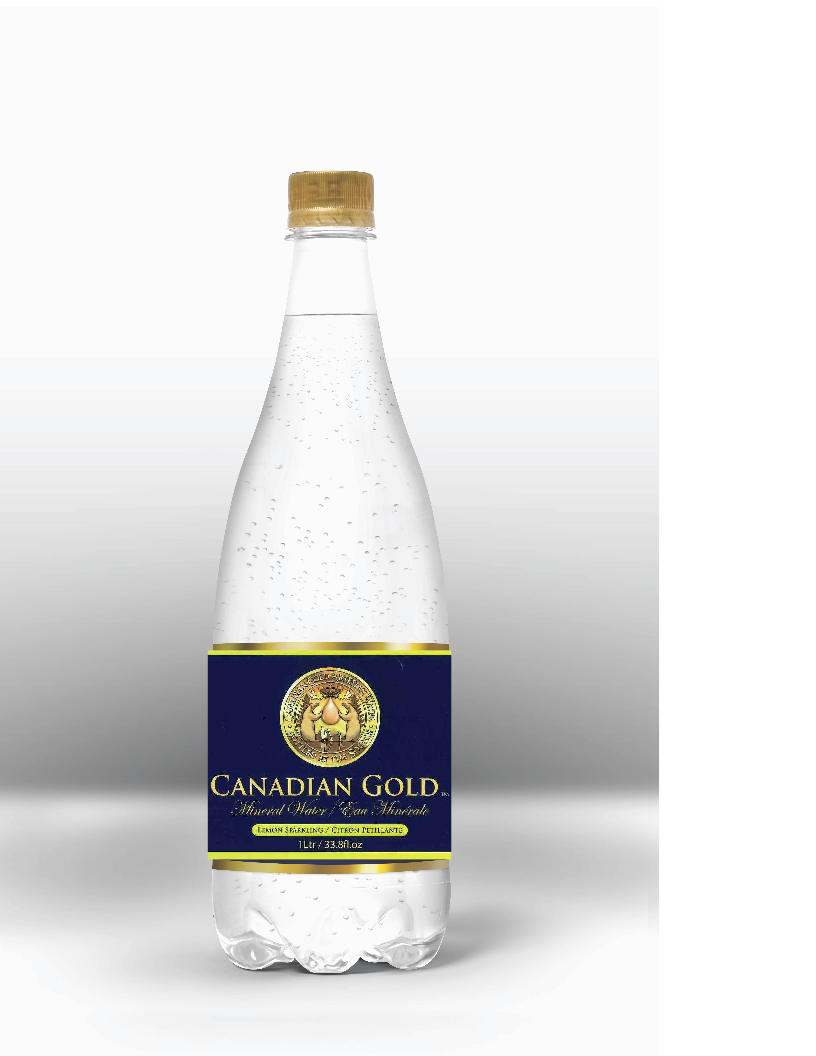 blue and gold bottle