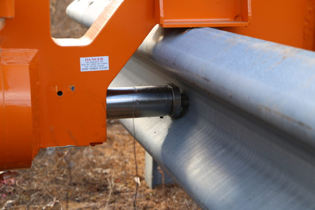 Rail Gator - Mobile Guardrail Press saves you money by allowing you to leave the guardrail in place