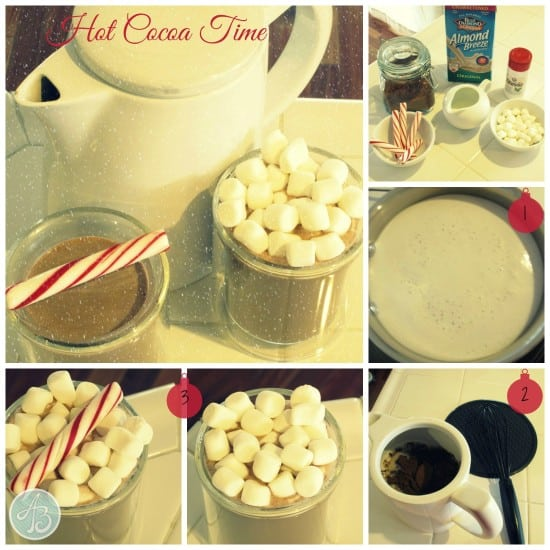 collage - hot cocoa time - logo & numbered