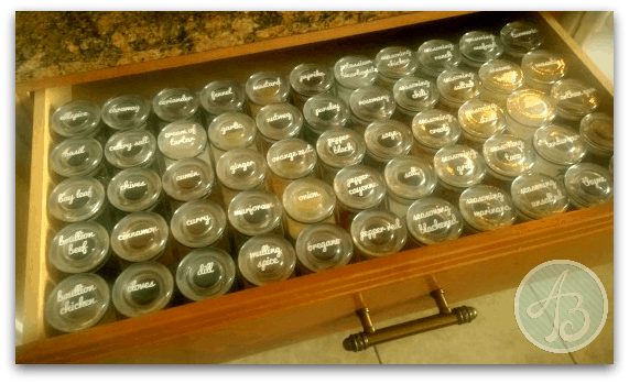 organized spice collection