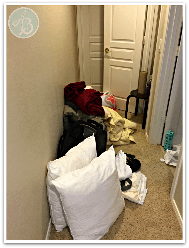 closet-organization-during