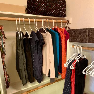 decluttered konmari closet