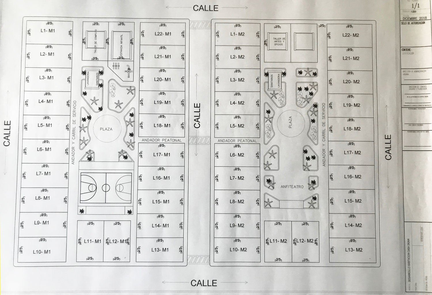 Casa Digna Map of Community