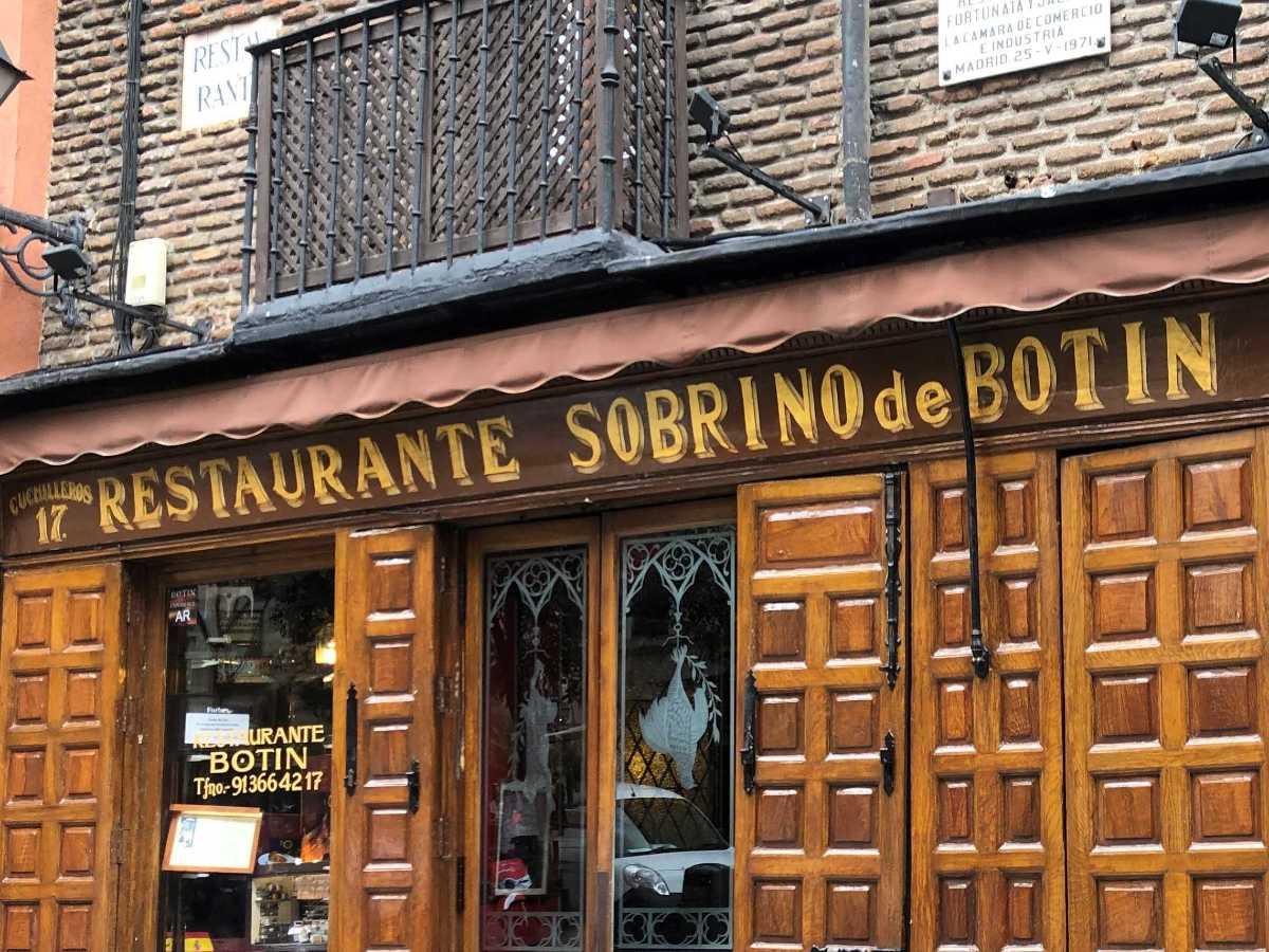 Sobrino de Botín: Madrid's Oldest Restaurant