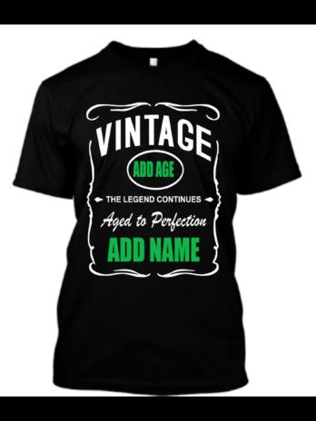 Custom (V1) Vintage Birthday ADD AGE/NAME