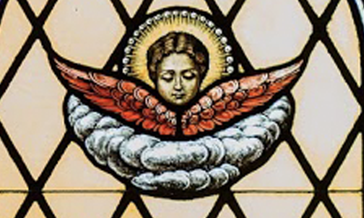 An angel in stained glass