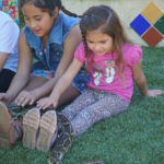 Interaction with snake at animal birthday party