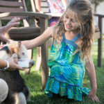 Anteater interaction at animal birthday party