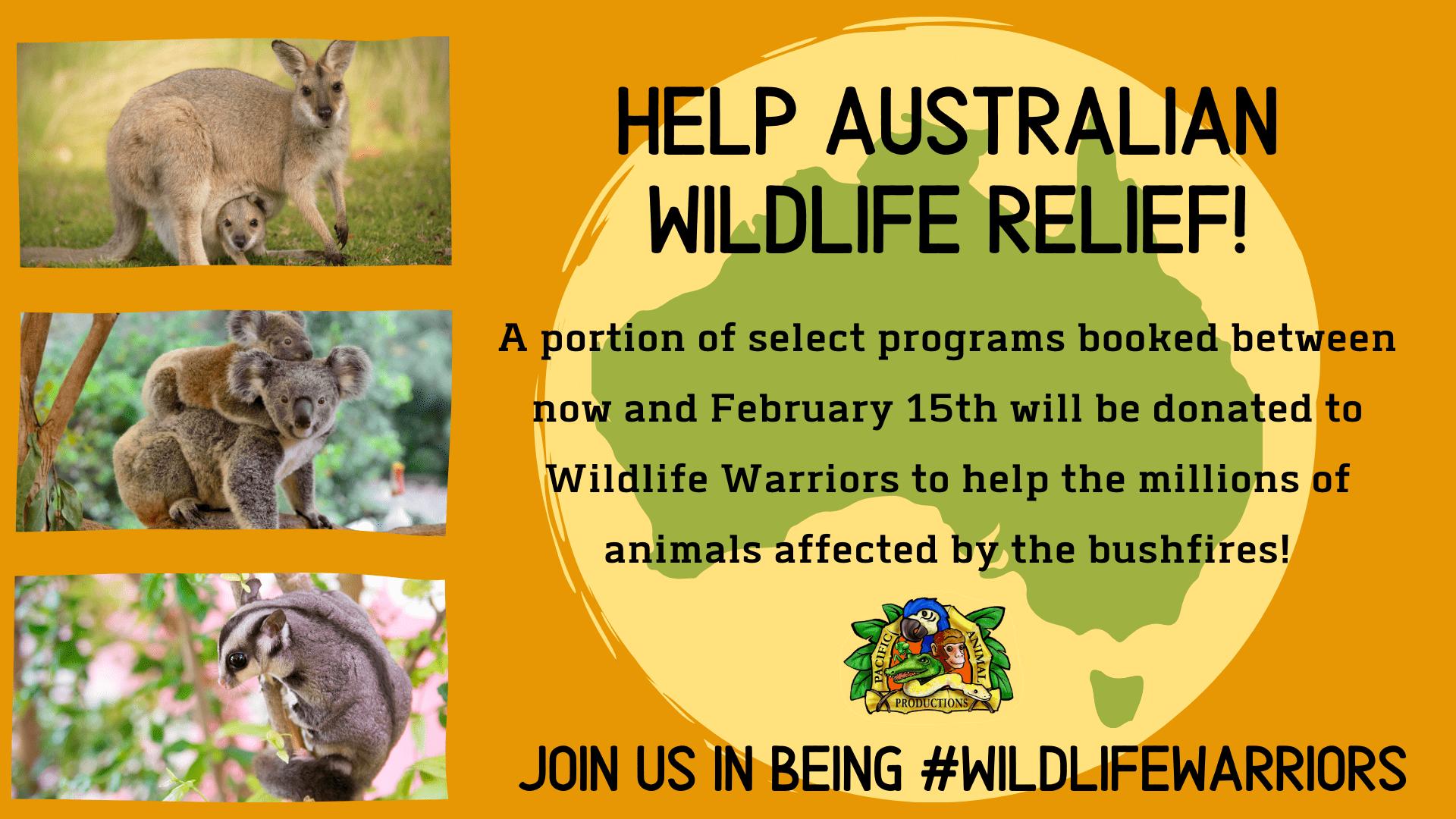 Australian Wildlife Relief Fundraiser