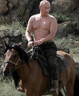 Putin on horse