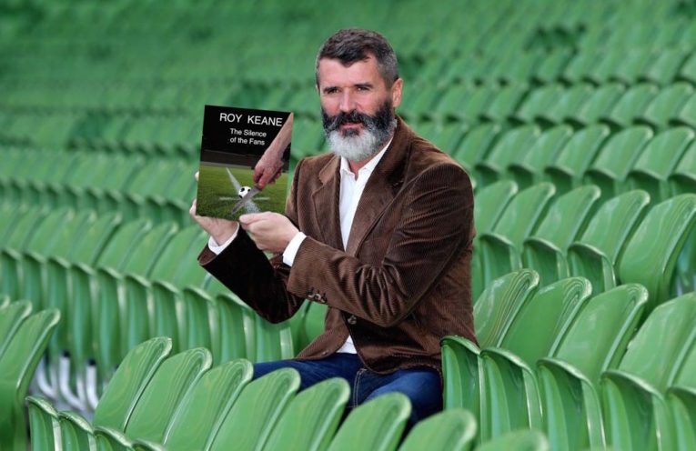 Roy Keane Holding his Book