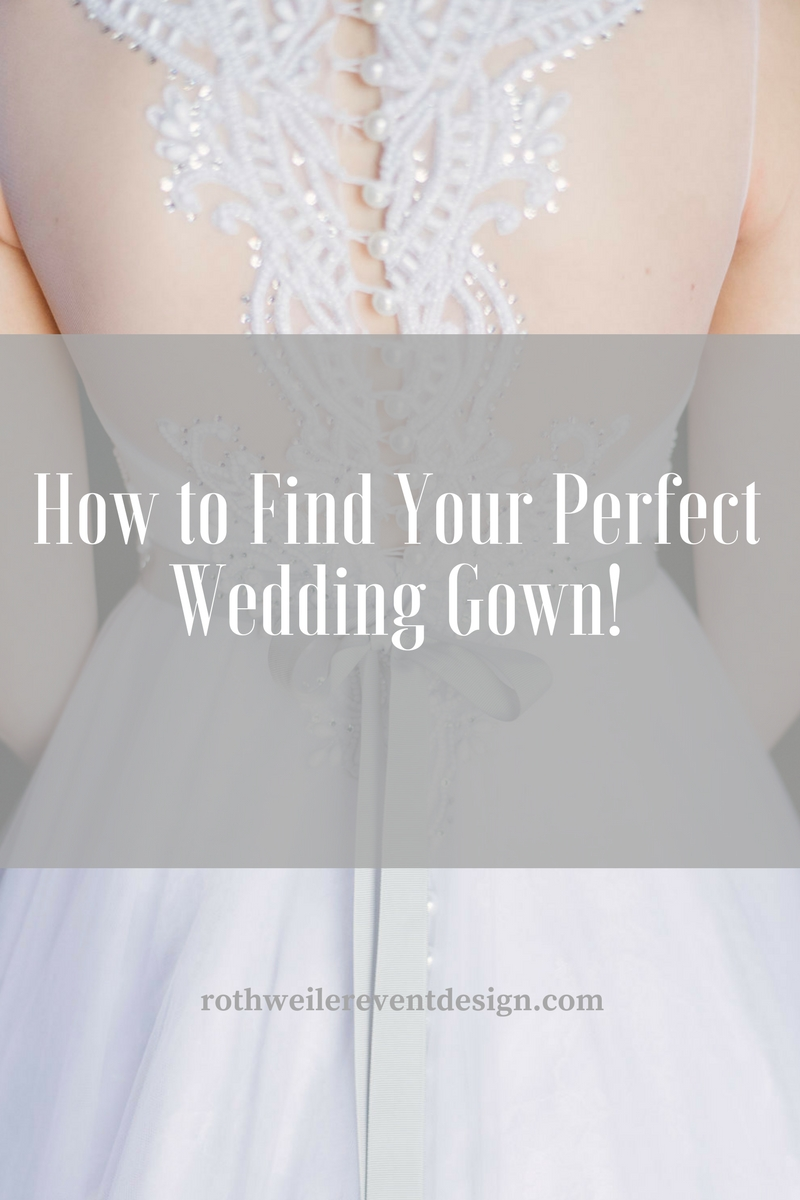 How to find your perfect wedding gown