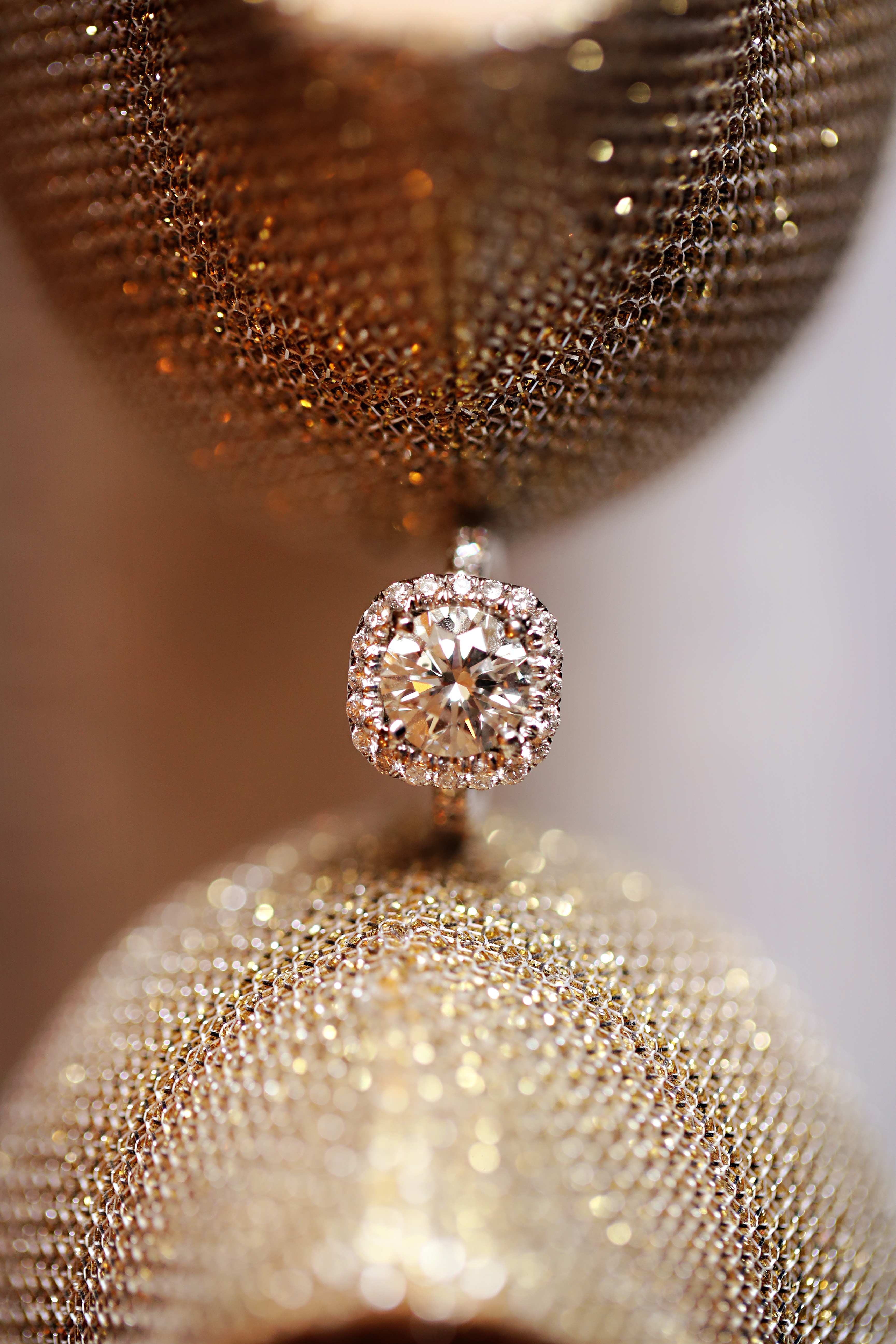 A gorgeous solitaire and a pair of gold heels gave our bride plenty of sparkle for her NYC wedding day!