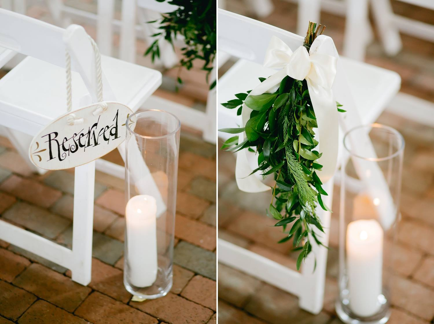 A rustic chic ceremony isn't complete without plenty of greenery and candles. Find out how to use this style for a garden wedding on our blog right now!