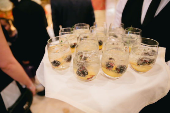 Signature drinks for a rehearsal dinner
