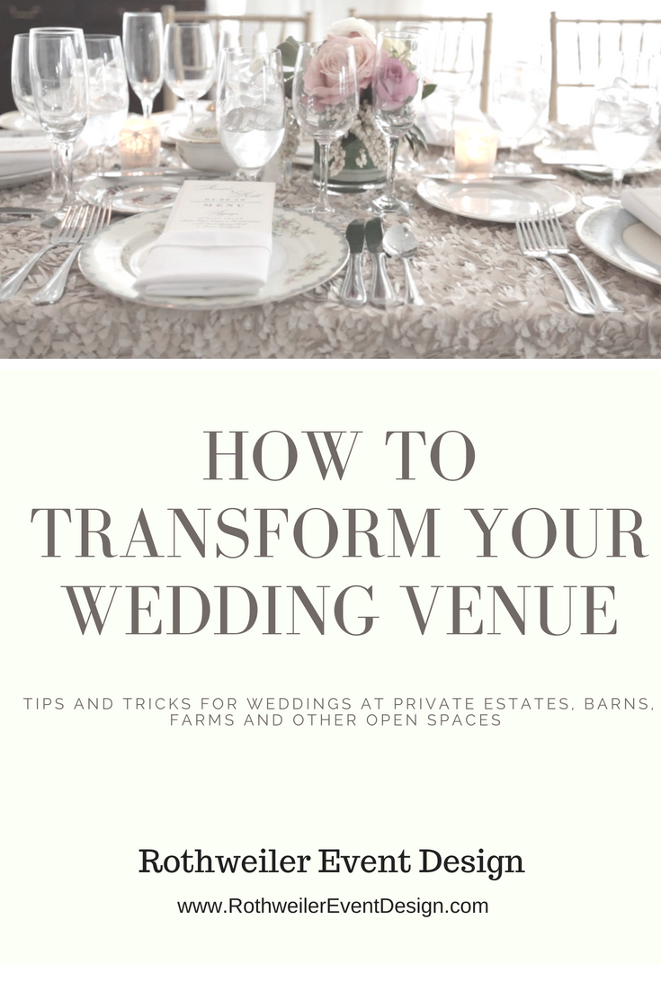 How to transform your wedding venue and design an open space. Read this wedding blog if you're looking for ways to change the look of your wedding venue, or having a backyard, farm, barn or at home wedding! #weddingblog #barnwedding