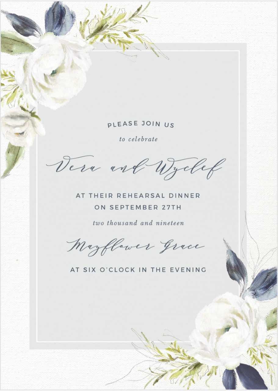 floral wedding invitation