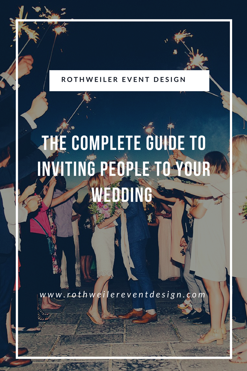 The Complete Guide to Inviting People to Your Wedding! How to decide who to invite to your wedding and more in our wedding blog. Read this if you're engaged and need some wedding planning tips! #weddingblog #weddingguestlist