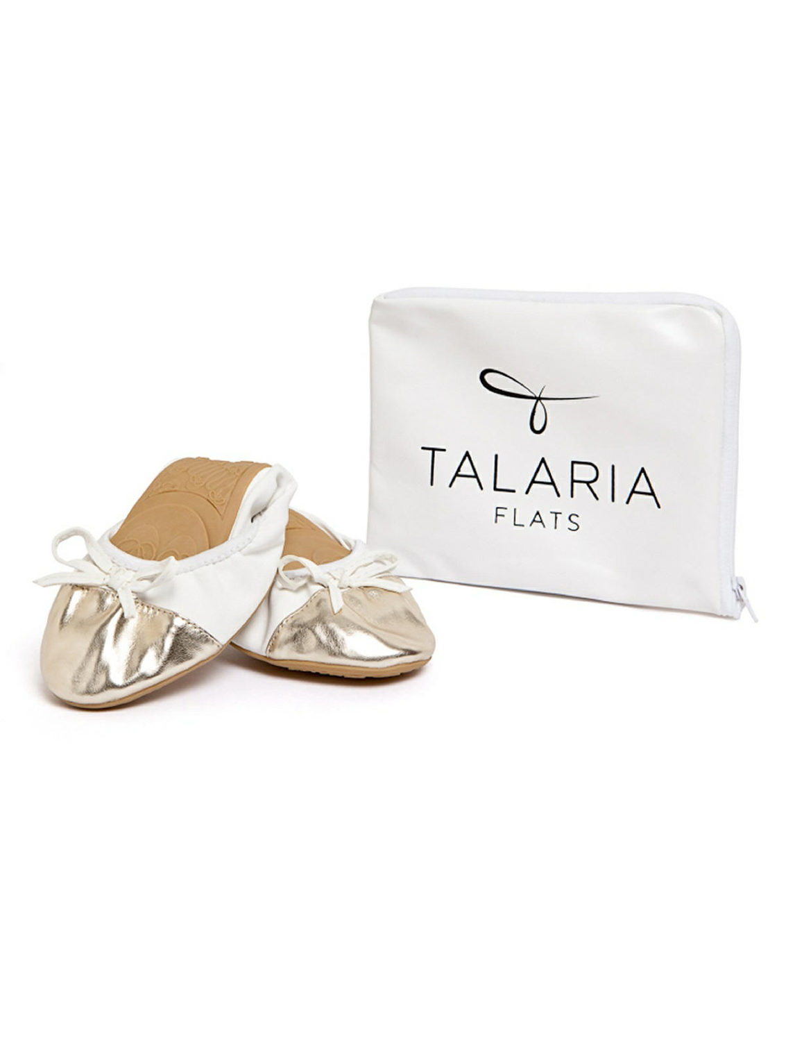 white and gold ballet flats for brides and bridesmaids