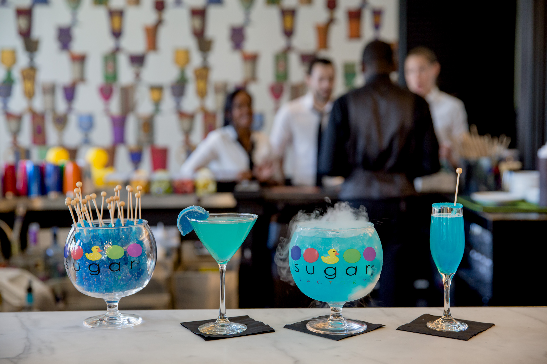 4 blue drinks