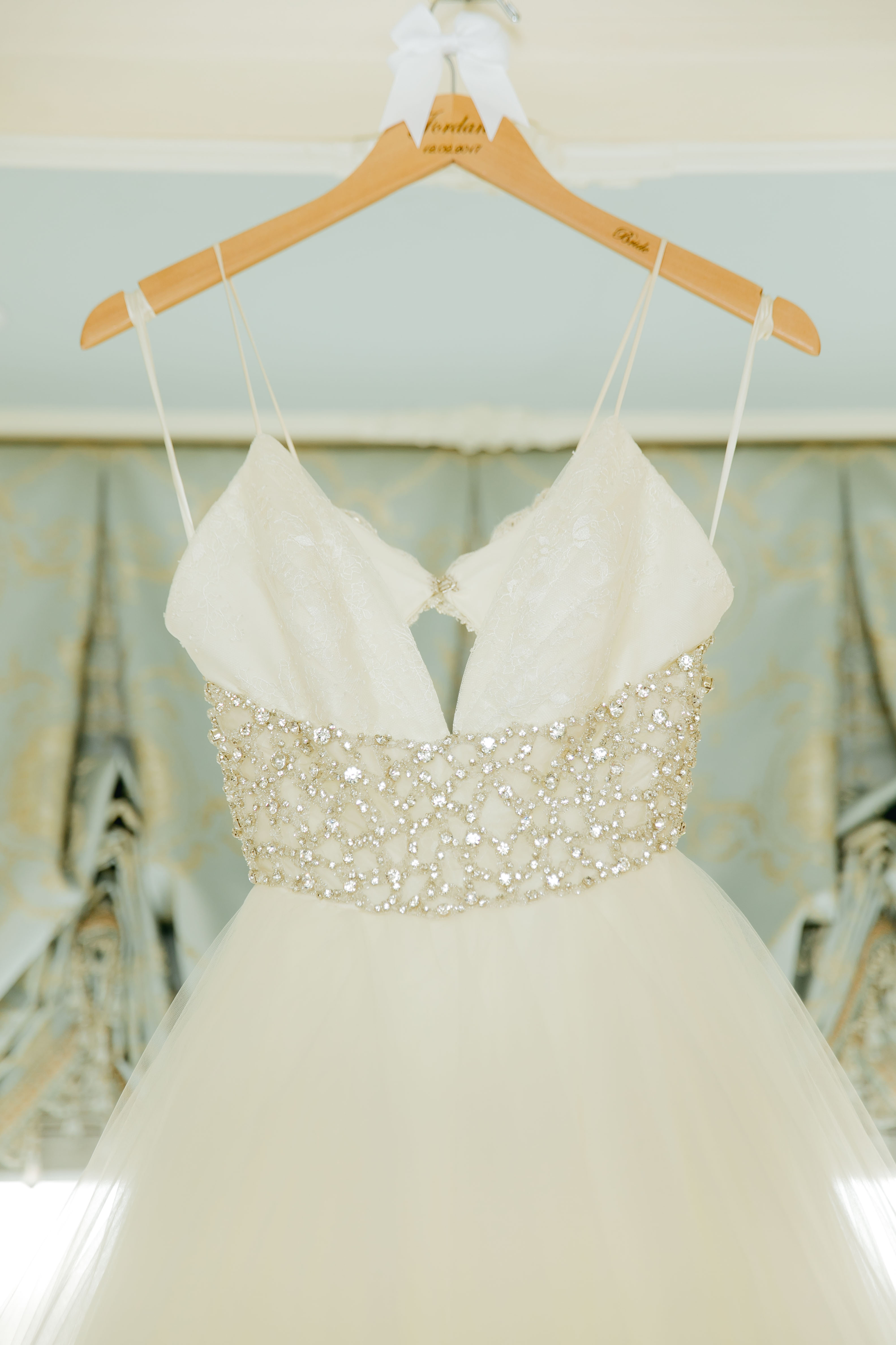 wedding gown bodice with sparkle