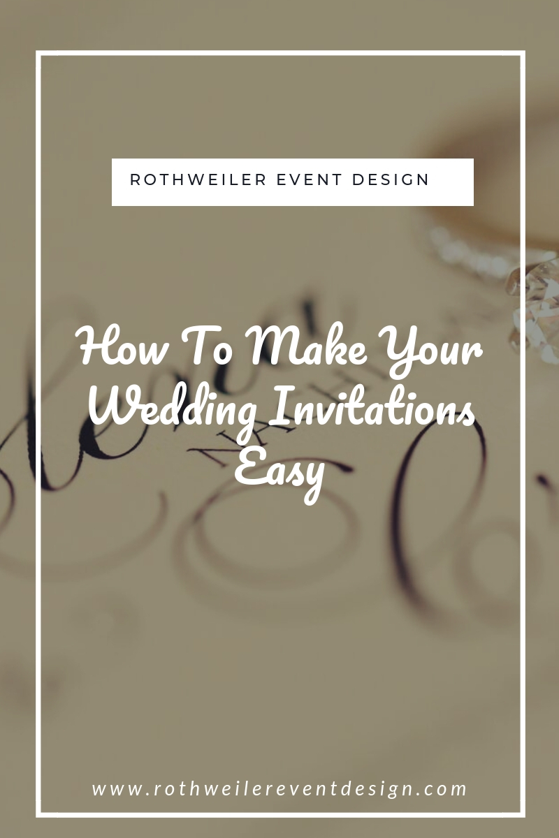 blog cover for how to make your wedding invitations easy
