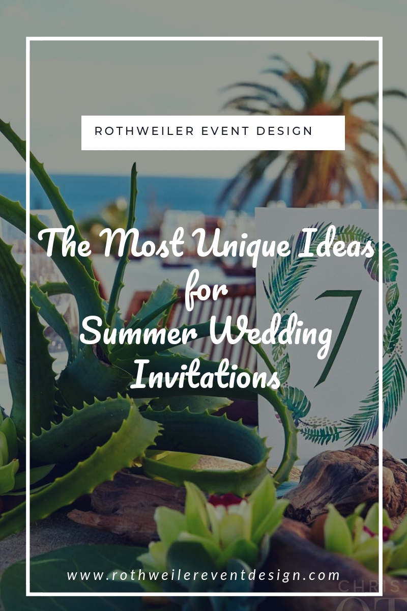 blog cover for blog about unique ideas for summer wedding invitations