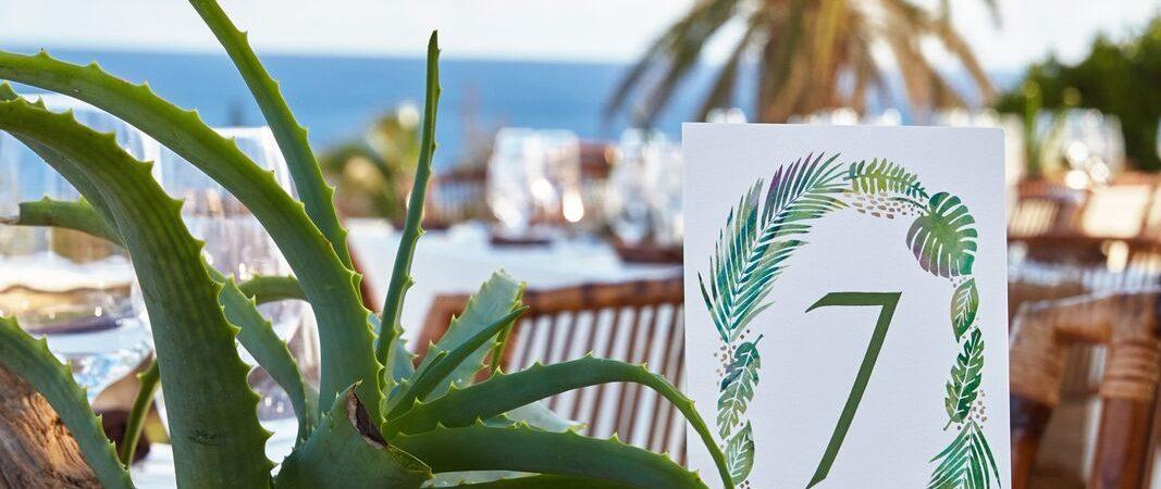 bermuda table wedding decor