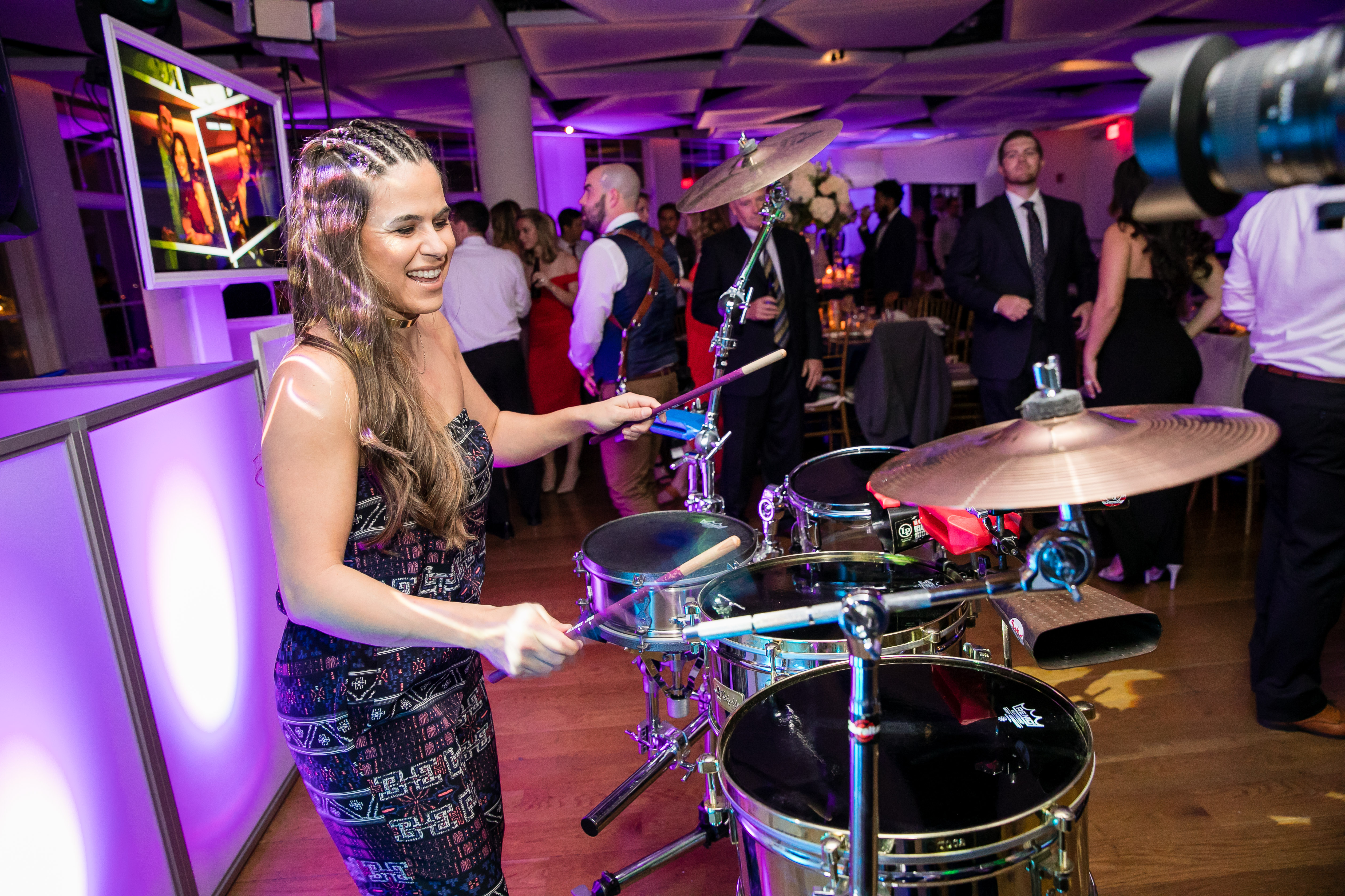 drummer at wedding reception