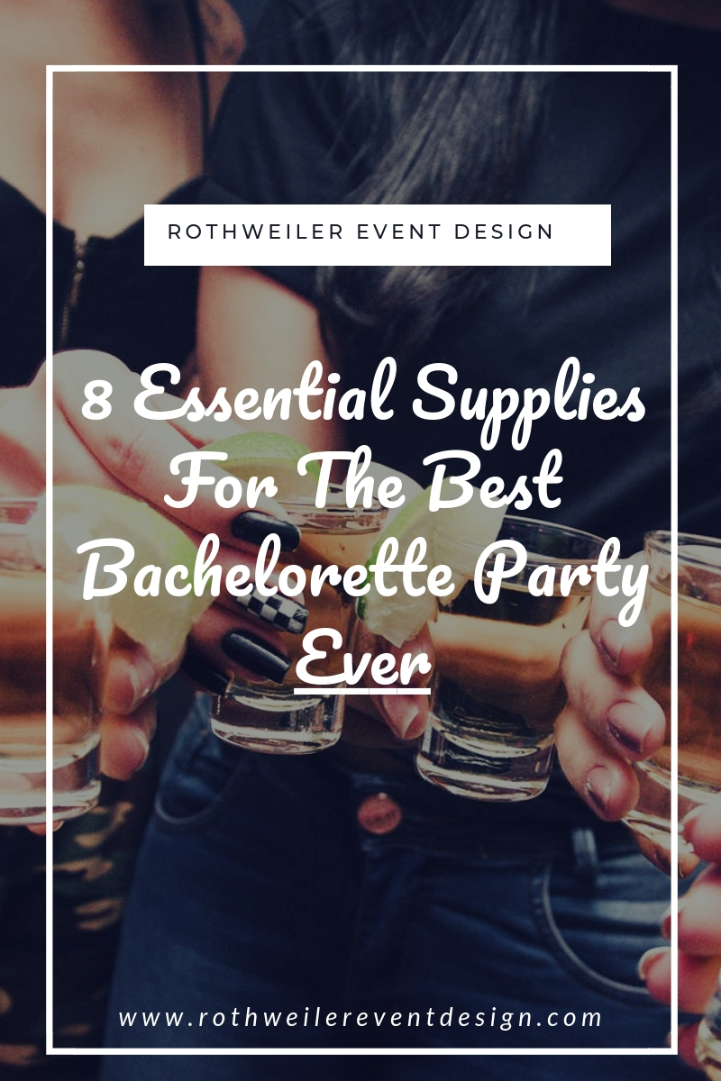 blog cover for blog post about bachelorette party supplies