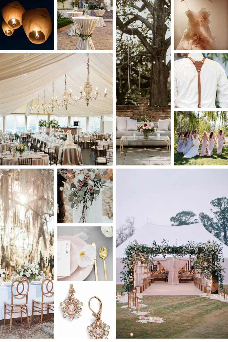 inspo board for blake and ryan's wedding