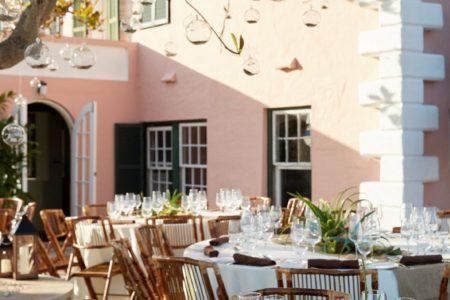 outdoor wedding reception in bermuda