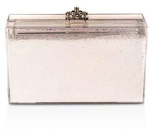 sparkly pink clutch purse
