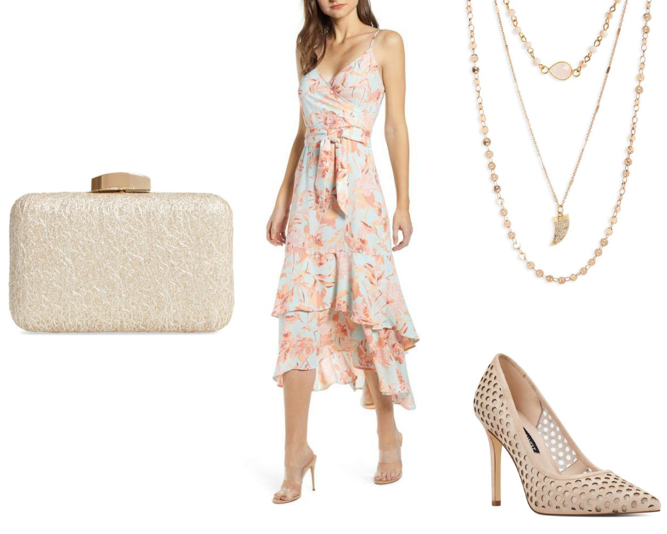 floral dress mood board