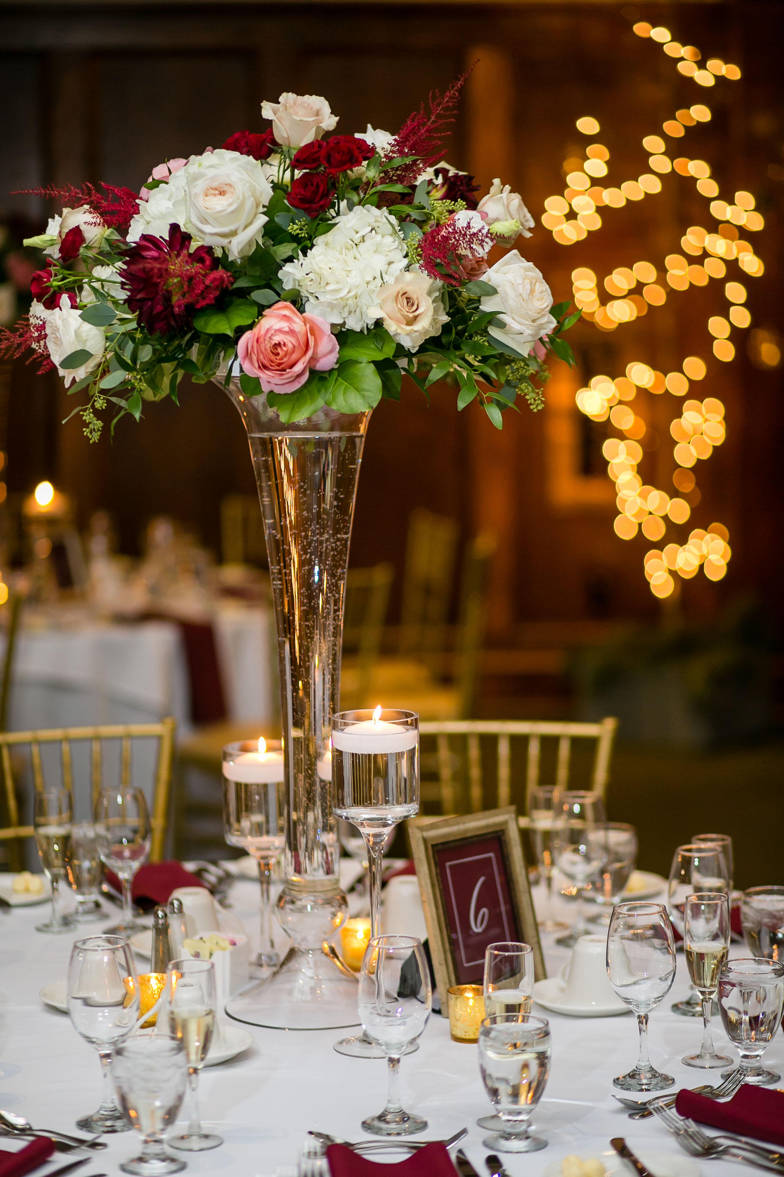 wedding tall centerpiece