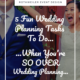 blog cover for blog about fun wedding planning tasks
