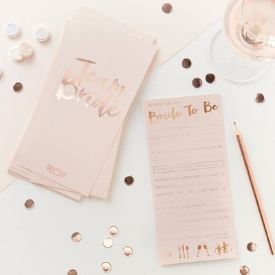 bride to be advice cards from target