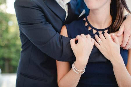 engagement session photo of couple